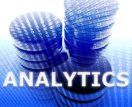 Data analytics abstract, computer technology information concept illustration illustration