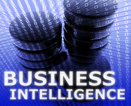 information processing system: Business intelligence abstract, computer data information concept illustration Stock Photo