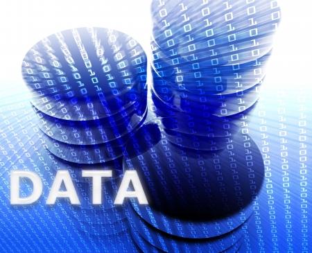 Data storage abstract, computer technology information concept illustration illustration