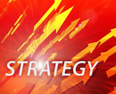 Strategy illustration, abstract management success concept clipart illustration