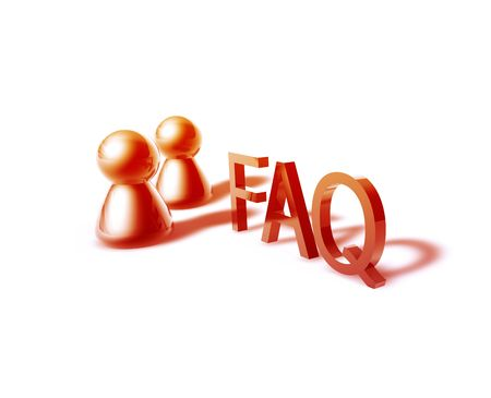 faq online word graphic, with stylized people icons photo