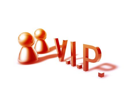 VIP online word graphic, with stylized people icons photo