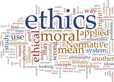 Word cloud concept illustration of moral ethics Stock Illustration - 5383591