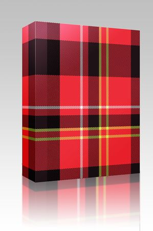 criss: Software package box Tartan Scottish plaid material pattern texture design