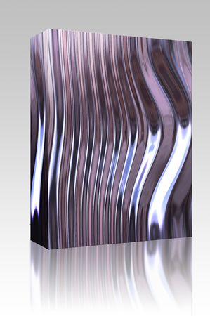 Software package box Warped reflective chromed metal surface texture background photo
