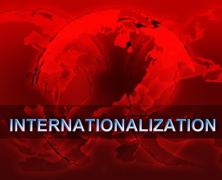 Internationalizion globalization international free trade economy illustration with globes illustration
