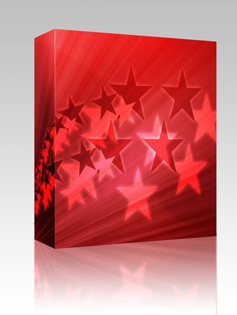 five pointed: Software package box Abstract geometric wallpaper background of flying stars