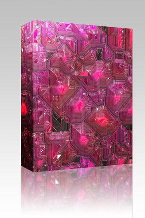 circuitry: Software package box Abstract high tech circuitry background wallpaper illustration