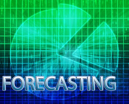 predict: Illustration of forecasting budgeting finance and business pie chart
