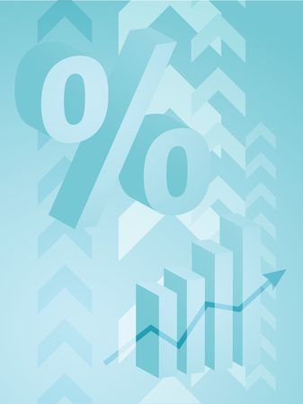 spending: Abstract financial success illustration with percent symbol Stock Photo