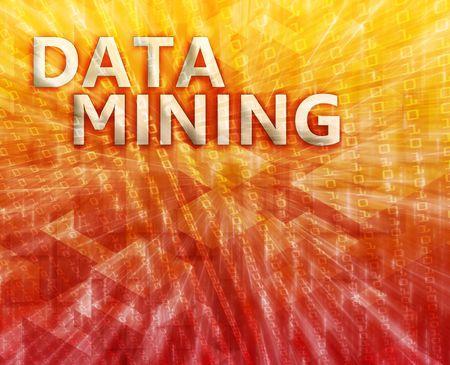 Data mining abstract, computer technology concept illustration illustration