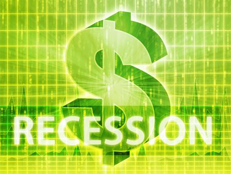 recession: Recession Finance illustration, dollar symbol over financial design