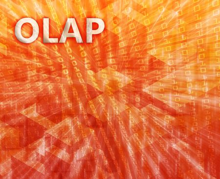 OLAP Business intellegence abstract, computer technology concept illustration illustration