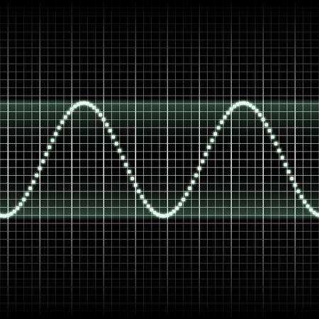 wellenl�nge: Abstract generische Wissenschaft Klangwellen Messwertanzeige Illustration