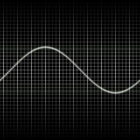 audiowave: Abstract generic science audio waves measurement display illustration