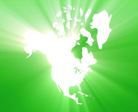 continente americano: Mapa del continente de Am�rica del Norte, EE.UU. Canad� M�xico