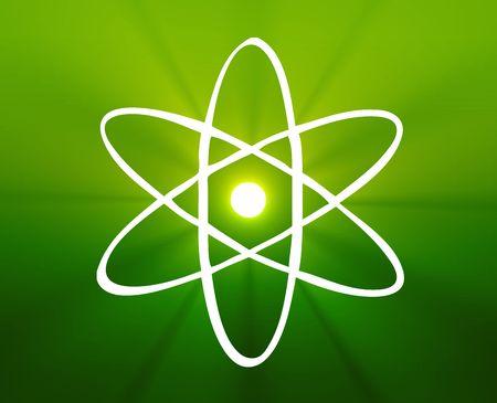 Atomic nuclear symbol scientific illustration of orbiting atom illustration