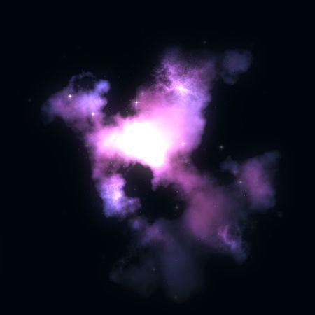 outerspace: Starfield Espacio nebulosa ilustraci�n de cielo estrellado espacio exterior