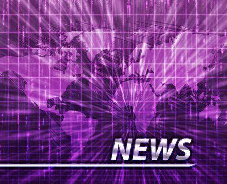 Latest breaking news newsflash splash screen announcement illustration Stock Illustration - 5418327