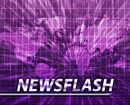 Latest breaking news newsflash splash screen announcement illustration Stock Illustration - 5418324