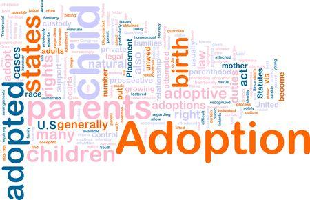 Word cloud concept illustration of  child adoption Stock Illustration - 5468412