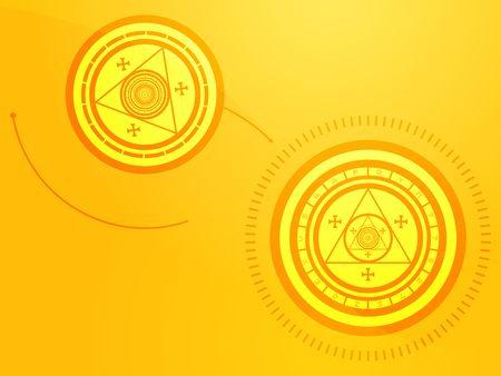 Wierd arcane symbols that look strange and occult Stock Photo - 5468400