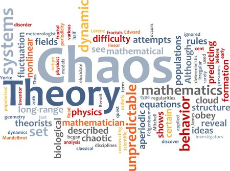 deterministic: Word cloud concept illustration of chaos theory