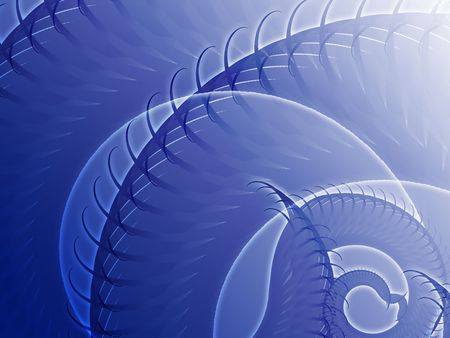 spiraling: Abstract background design of swirling spiral fronds