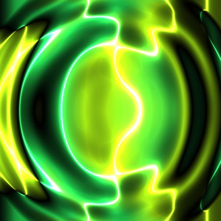 Swirly wavy circular flowing energy and colors, abstract illustration Stock Illustration - 5476875