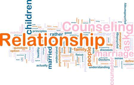 Word cloud concept illustratie van de relatie counseling