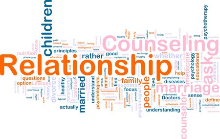 incompatible: Word cloud concept illustration of  relationship counseling