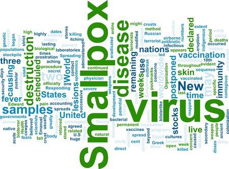 smallpox: Word cloud concept illustration of  smallpox virus Stock Photo