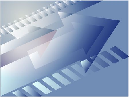 right angled: Forward moving arrows pointing right, design illustration Stock Photo