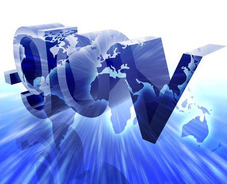 gov: Dot gov internet web url international worldwide illustration