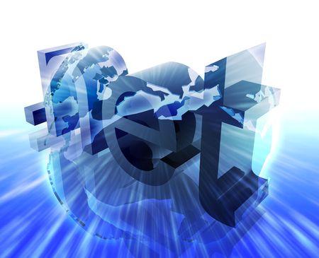 url: Dot net internet web url Europe worldwide illustration