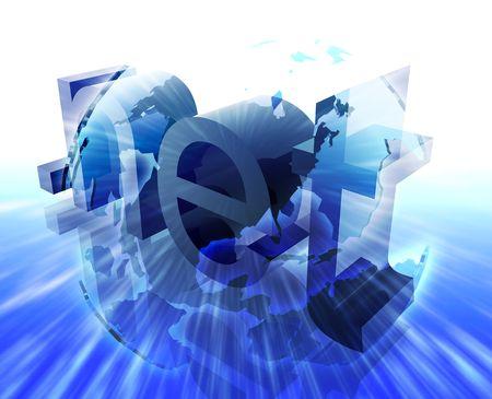 url: Dot net internet web url Americas worldwide illustration