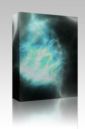 Software package box Energy aura glow abstract graphic design illustration illustration