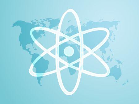 Atomic symbol Stock Photo - 5560437