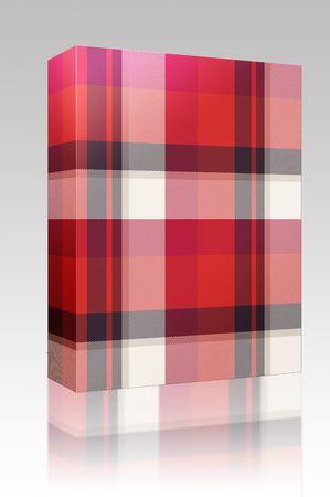 Software package box Scottish tartan plaid material pattern texture design photo