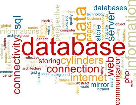 dataflow: Ilustraci�n de concepto de nube de Word de almacenamiento de informaci�n de base de datos