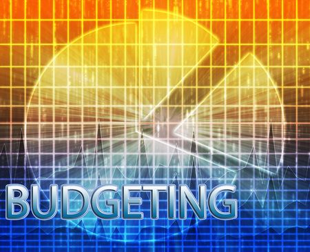 Illustration of financial budgeting finance and business pie chart illustration