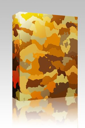 Software package box Camouflage pattern autumn desert colors design graphic wallpaper texture photo