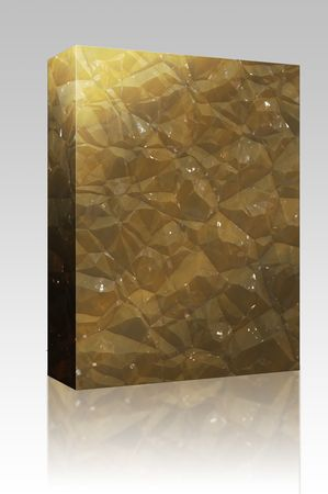 ore: Software package box Crystalline mineral and metal shiny faceted ore deposits