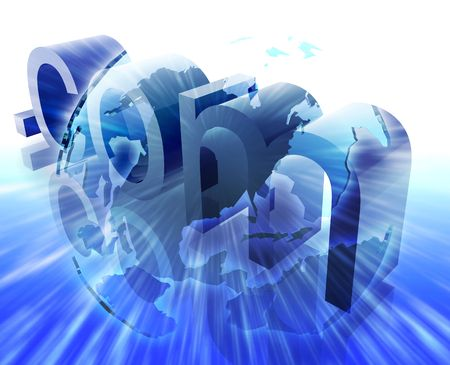 dot com: Dot com website internet web url USA illustration