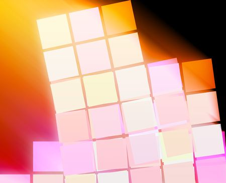 massive: Abstract wallpaper illustration of geometric square shapes Stock Photo