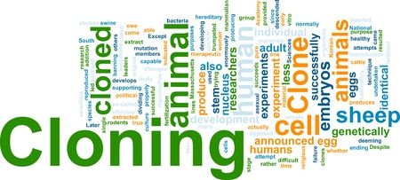 cloning: Word cloud concept illustration of cloning clone Stock Photo
