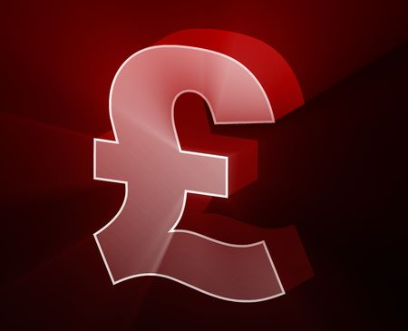 gb pound: Pounds currency symbol illustration, glowing light effect