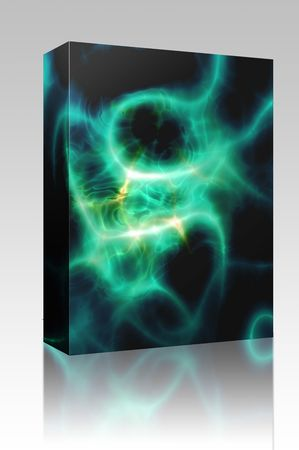Software package box Energy aura glow abstract graphic design illustration Stock Illustration - 5641247