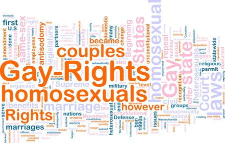 repeal: Word cloud concept illustration of gay rights