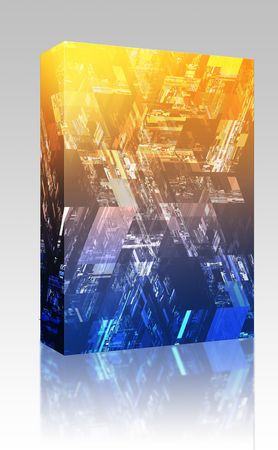 Software package box Hi tech pattern abstract wallpaper background design Stock Photo - 5641421